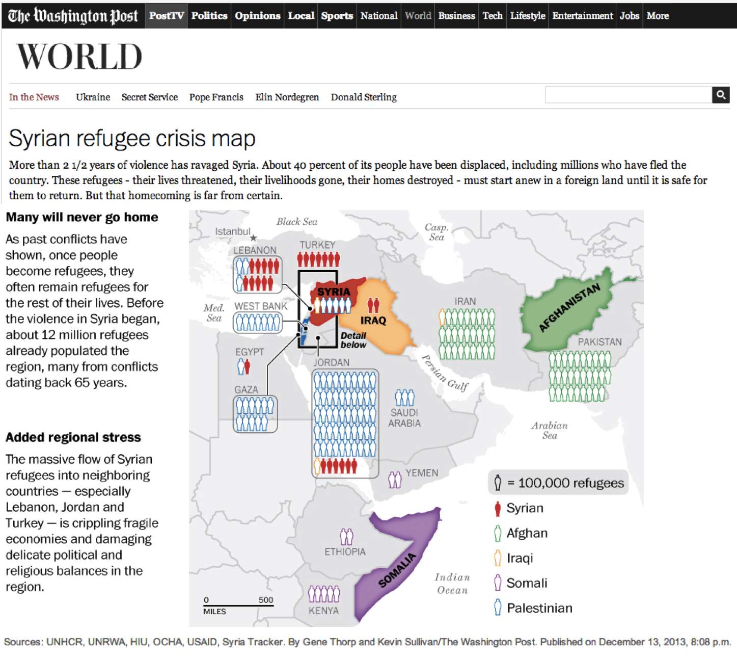Syrian Refugee Crisis Map