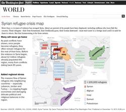 Syrian Refugee Crisis Map