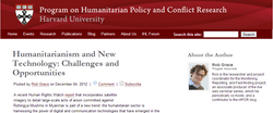 Humanitarianism and New Tech