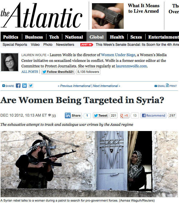 Targeting Women in Syria