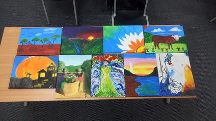 Participant paintings
