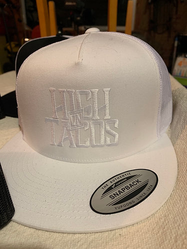 Flat Bill Trucker Hat - Whiteout