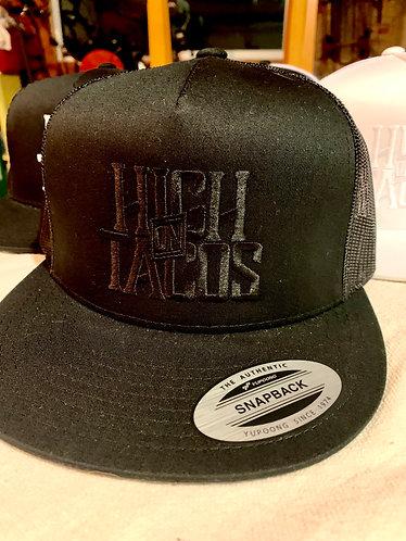 Flat Bill Trucker Hat / Blackout