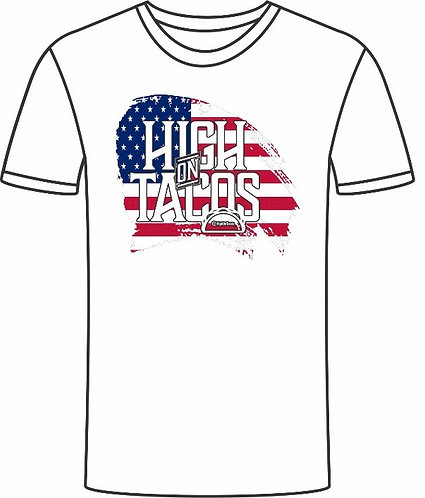 American Flag Background style shirt