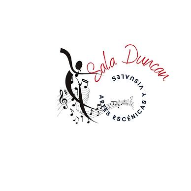 Logotipo para Cantante de Música Flamenca con Ilustración de Bailaor, Negro y Rojo.png
