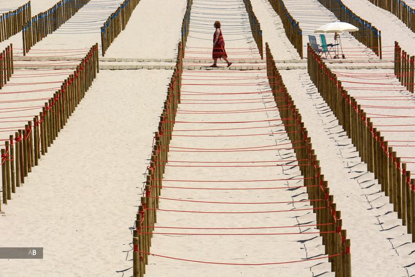Parcelas como medidas de seguridad en la playa de Silgar (Sanxenxo)