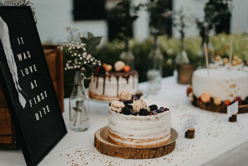wedding taart met macarons
