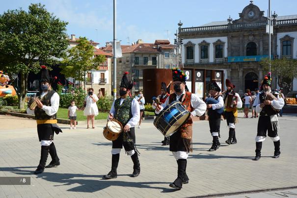 Gaiteiros en las fiestas de A Peregrina (Pontevedra).