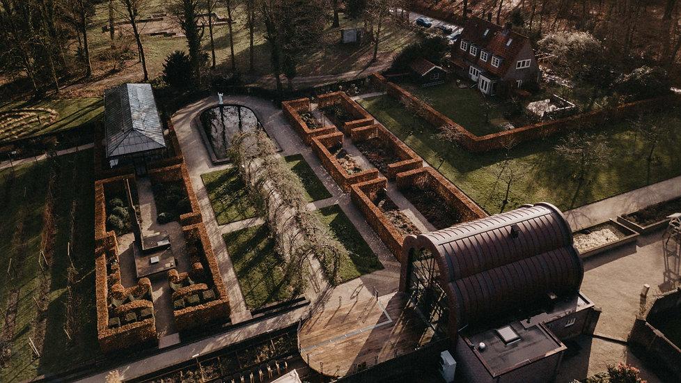 drone opnames van tuin de lage oorsprong