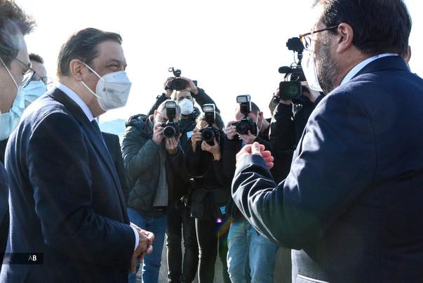 El ministro Luis Planas visita la bodega de Martín Códax.
