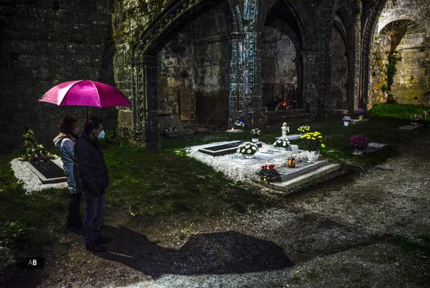 Día de difuntos en Las Ruinas de Santa Mariña (Cambados)