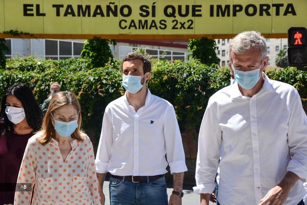 Visita de Pablo Casado en Pontevedra en las elecciones al Parlamento de Galicia