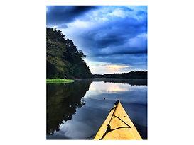 saxapahaw canoe at sunset.jpg