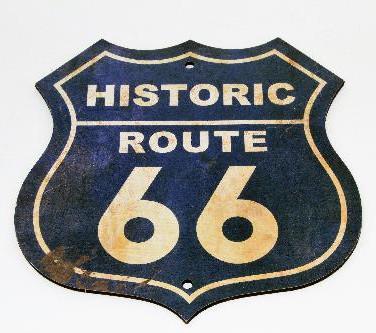 Placa Rota 66 Retrô
