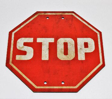 Placa Stop Pequena