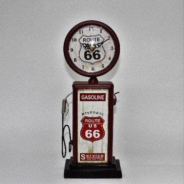 Relógio Bomba De Gasolina Latao Retro Vintage Rota 66