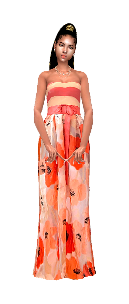 Orange bloosm gown.png