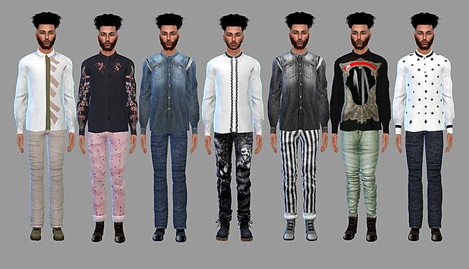 Sims 4 Men's Long Sleeve Shirts