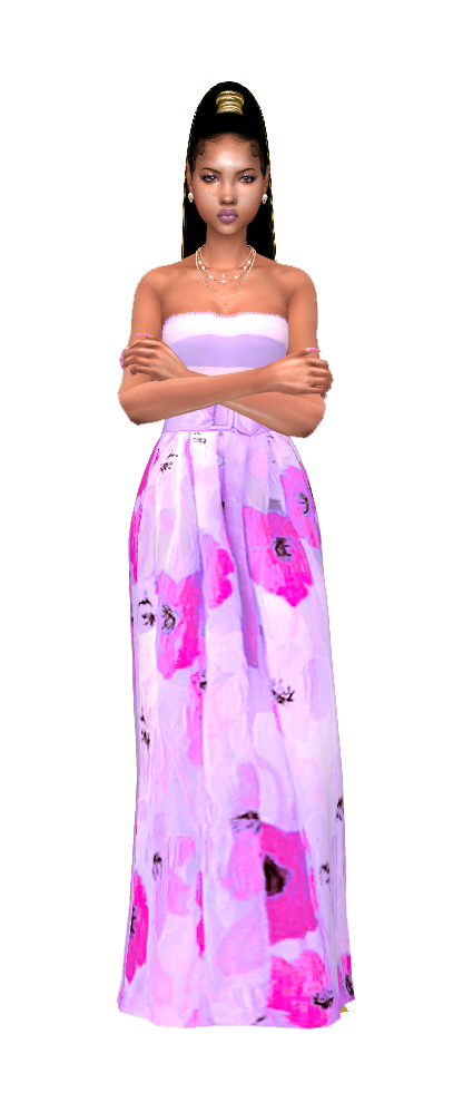 Lilac  bloosm gown.png