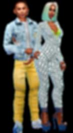 Joseph & Olivia bodysuit,jeanjacket A.pn