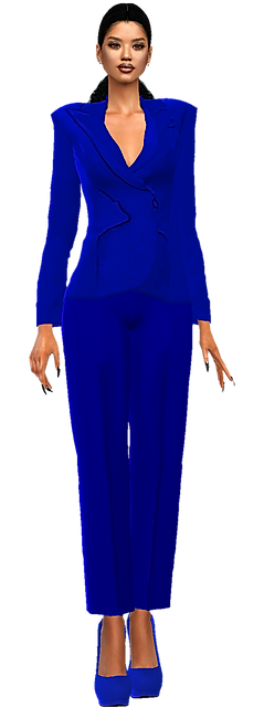 Blazer pants suit navy.png