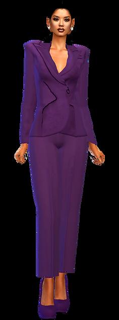 Blazer pants suit purple.png