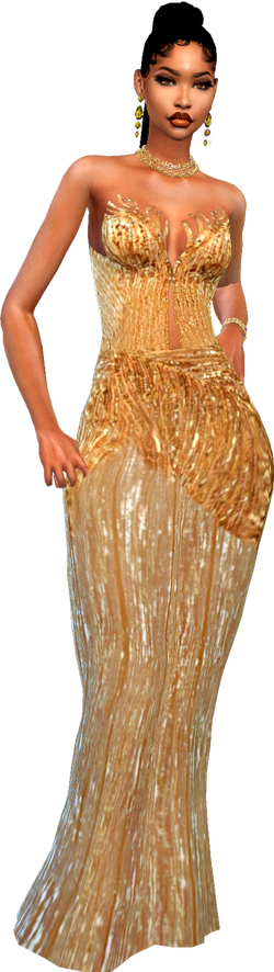 blogstyle gown gold