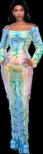 2pc Corset Pants mix light colors