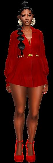 Belted short dress 03.png