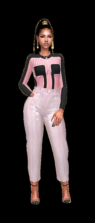 Stripe body top pink black.png