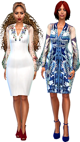 two puff arm midlgth dresses.png