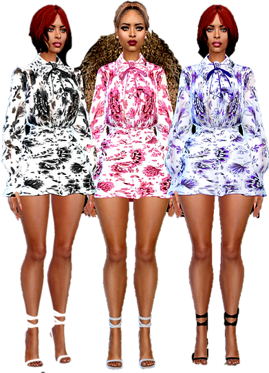 short bow dresses 01.png