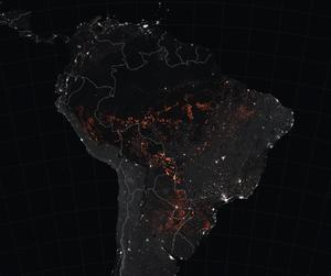Incendios en la Amazonía. Foto de la NASA