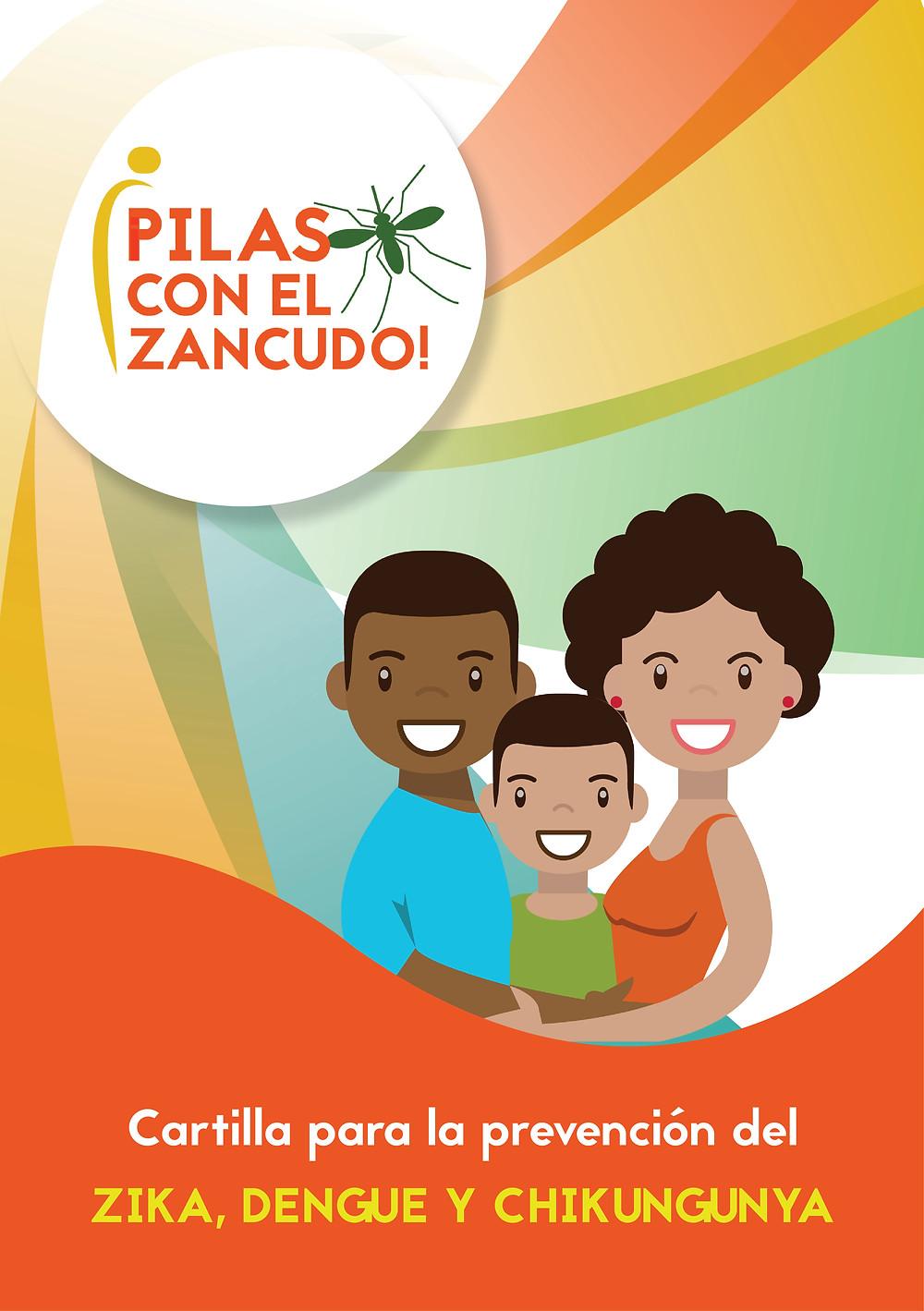Portada de cartilla o guía para prevención del zika, dengue y chikungunya