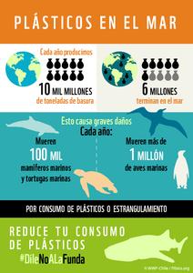 Infografía plásticos en el mar