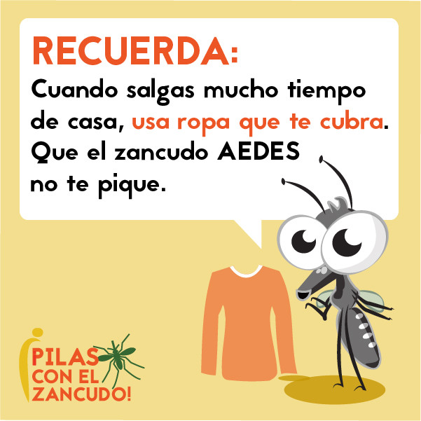 Imagen de redes sociales o meme para la prevención del zika, dengue y chikungunya y la picadura de mosquito