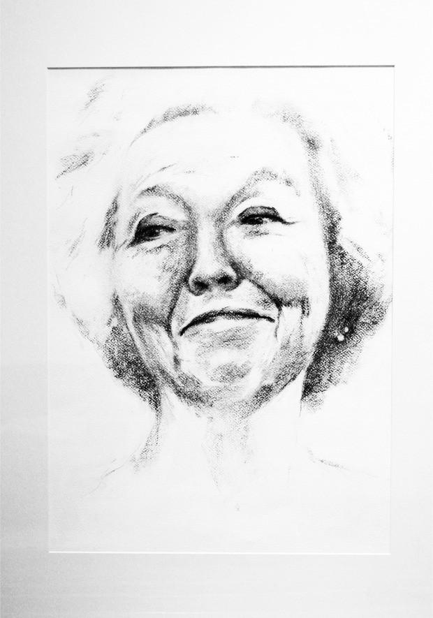 #portret #portrettekening #houtskool #potlood