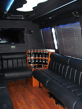 view to the rear of the party bus