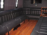 comfy seating in party bus