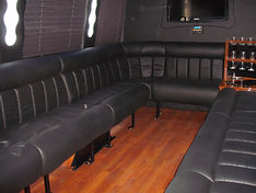 Rear view of 16 passenger Limo bus