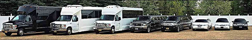 Red deer Limousine service with Party bus and a Limo bus