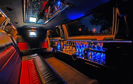 stretch town car inside
