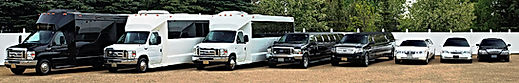 Red deer Limousine service with a Party bus and a Limo bus