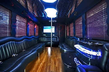 Party bus with washroom