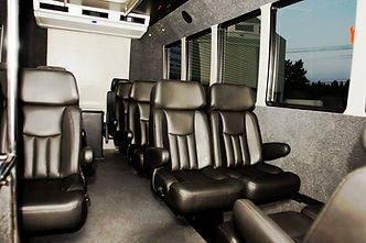 group seating in leather seats