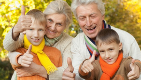 Forældre, bedsteforældre og børn.