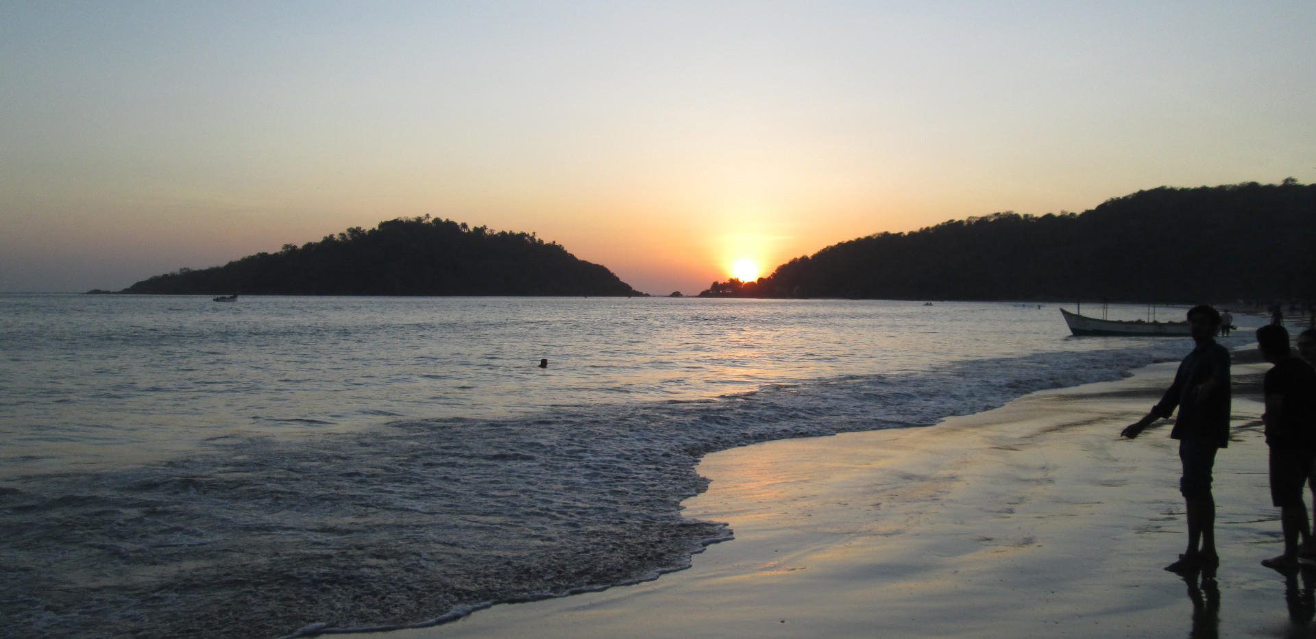 Solnedgang Palolem Beach