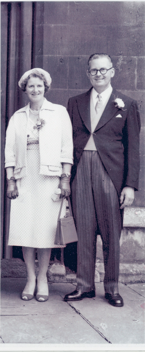 A low quality print wedding photo