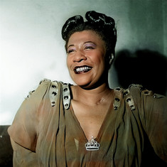 Colourised Ella Fitzgerald