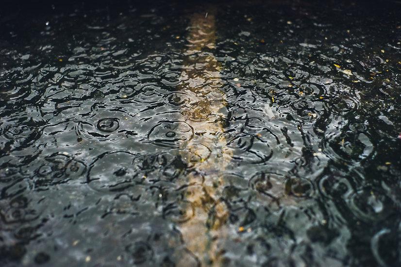 Premium Quality Art Print | Rain In a Puddle  | Yorkshire Photo Restoration